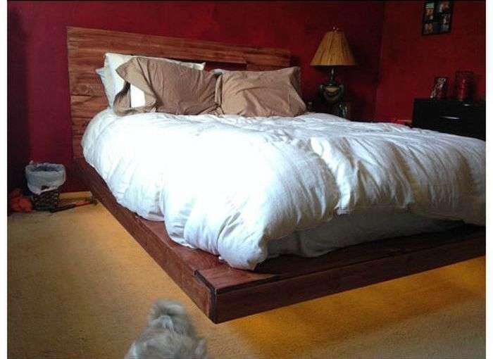 Левитирующая ліжко своїми руками (14 фото)