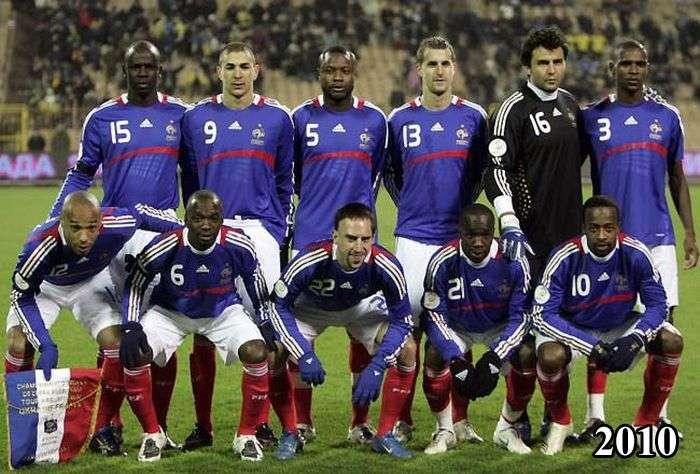 Збірна Франції з футболу тоді і зараз (4 фото)