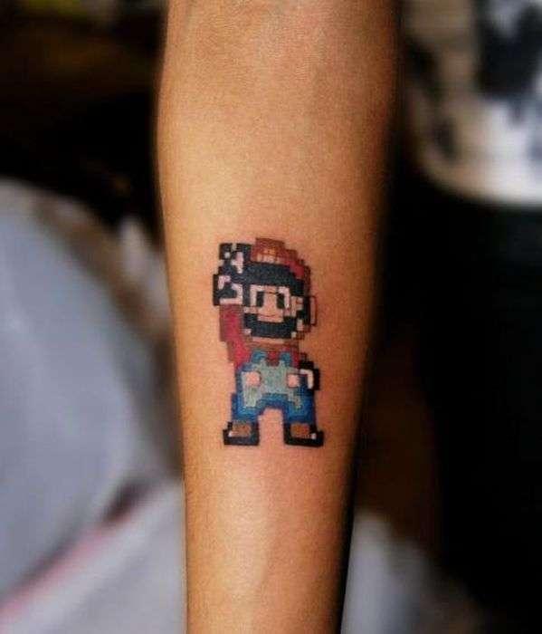 Незвичайні піксельні татуювання (31 фото)