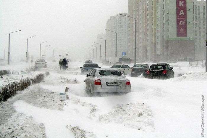 Фотозвіт з засніженого Ростова-на-Дону (34 фото)