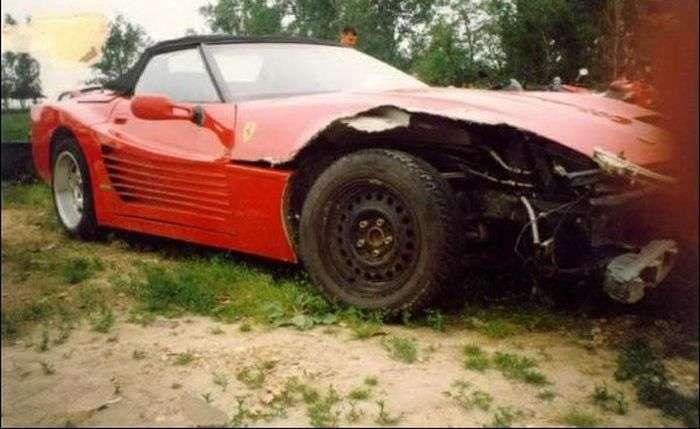 Розбиті вщент суперкари Ferrari (45 фото)