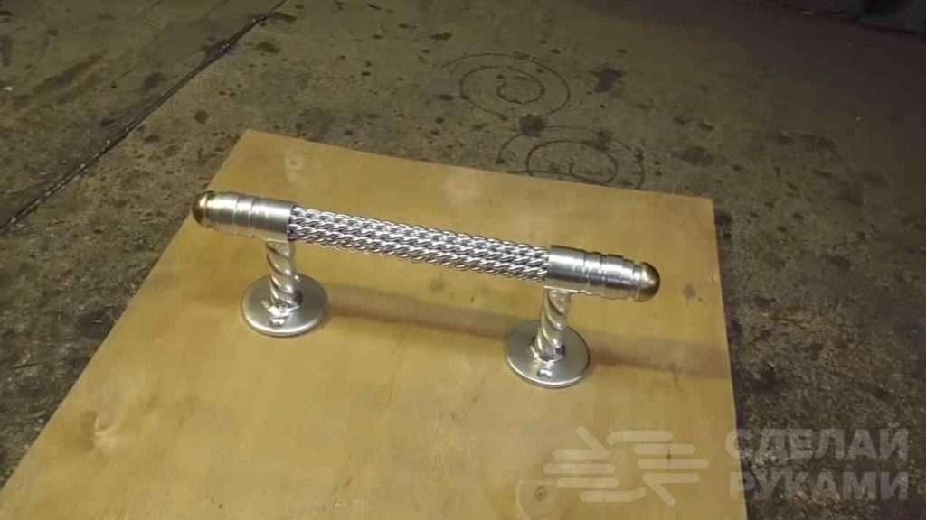 Оригинальная дверная ручка из стальной проволоки 3 мм Самоделки