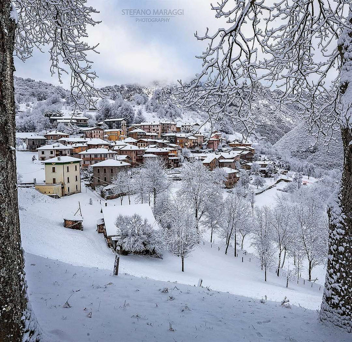 Прекрасные зимние пейзажи в Доломитовых Альпах природа