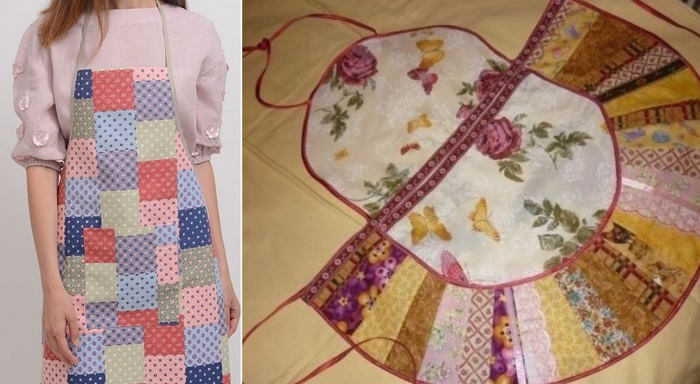 Как сшить оригинальный фартук для кухни из старой одежды вдохновение