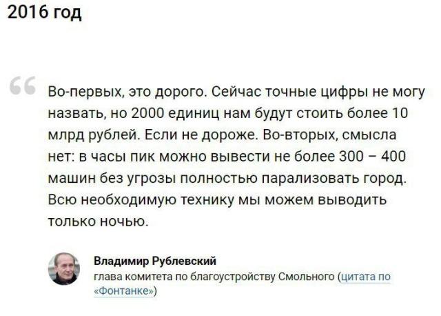 Власти Санкт-Петербурга об уборке снега. МиР