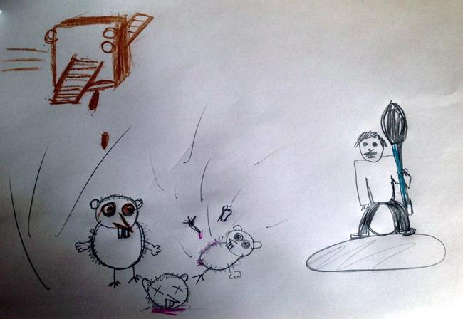 Нарисовать иллюстрацию к четверостишию Пушкина Дети