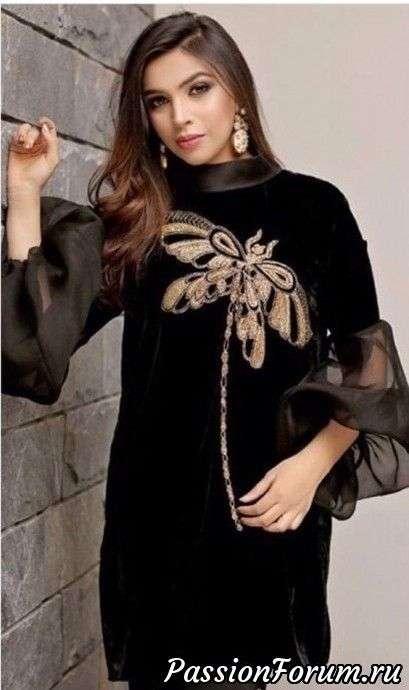 Платье и блуза с рукавами из шифона женские хобби