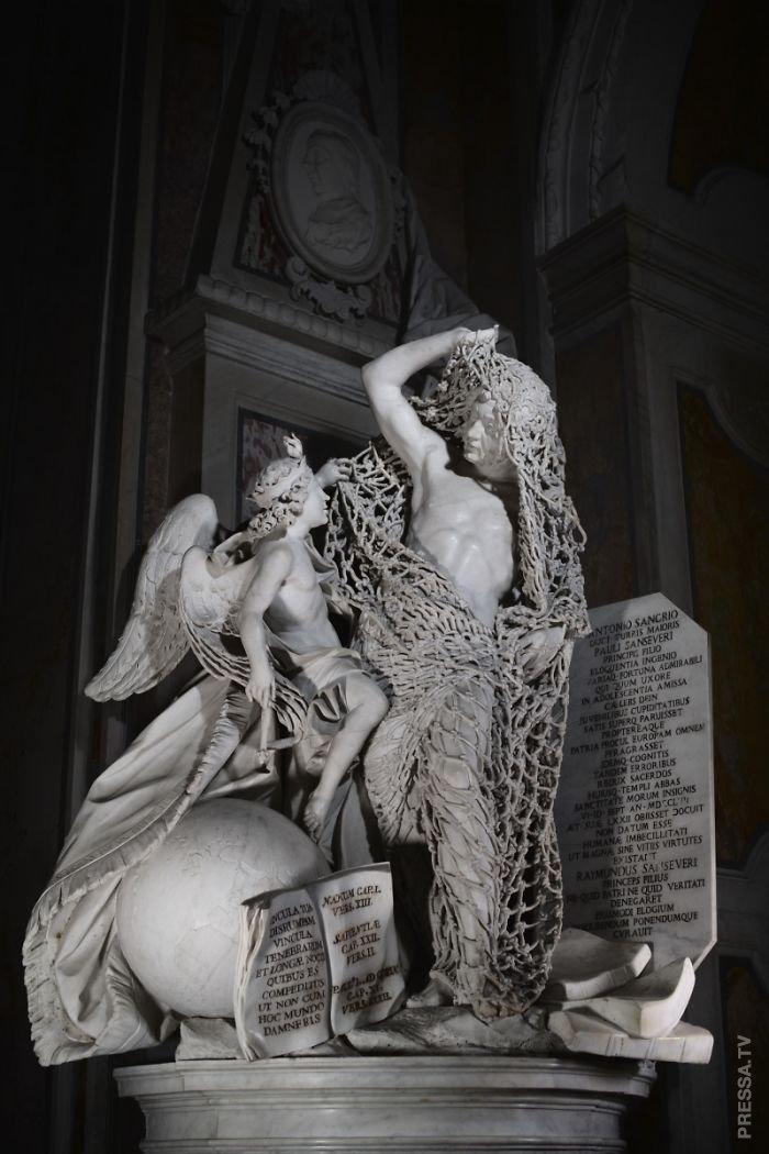 Потрясающая сетка из мрамора скульптура