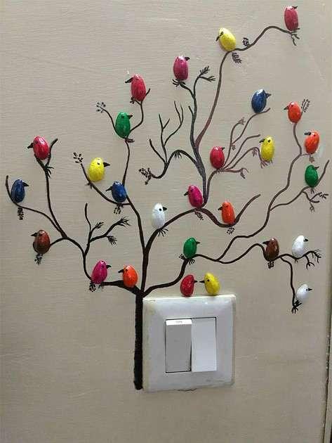 Такая оригинальная идея для декора стен. Захотелось поделиться, может кто-то тоже захочет сделать. handmake